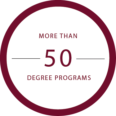 More than 50 Degree Programs
