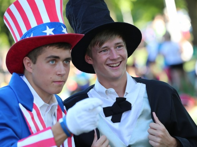 Students participate in the annual favorite Honor America at College of the Ozarks