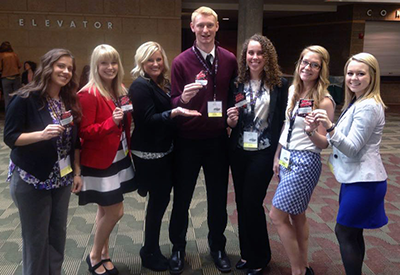 Students at a Phi Beta Lambda State Competition