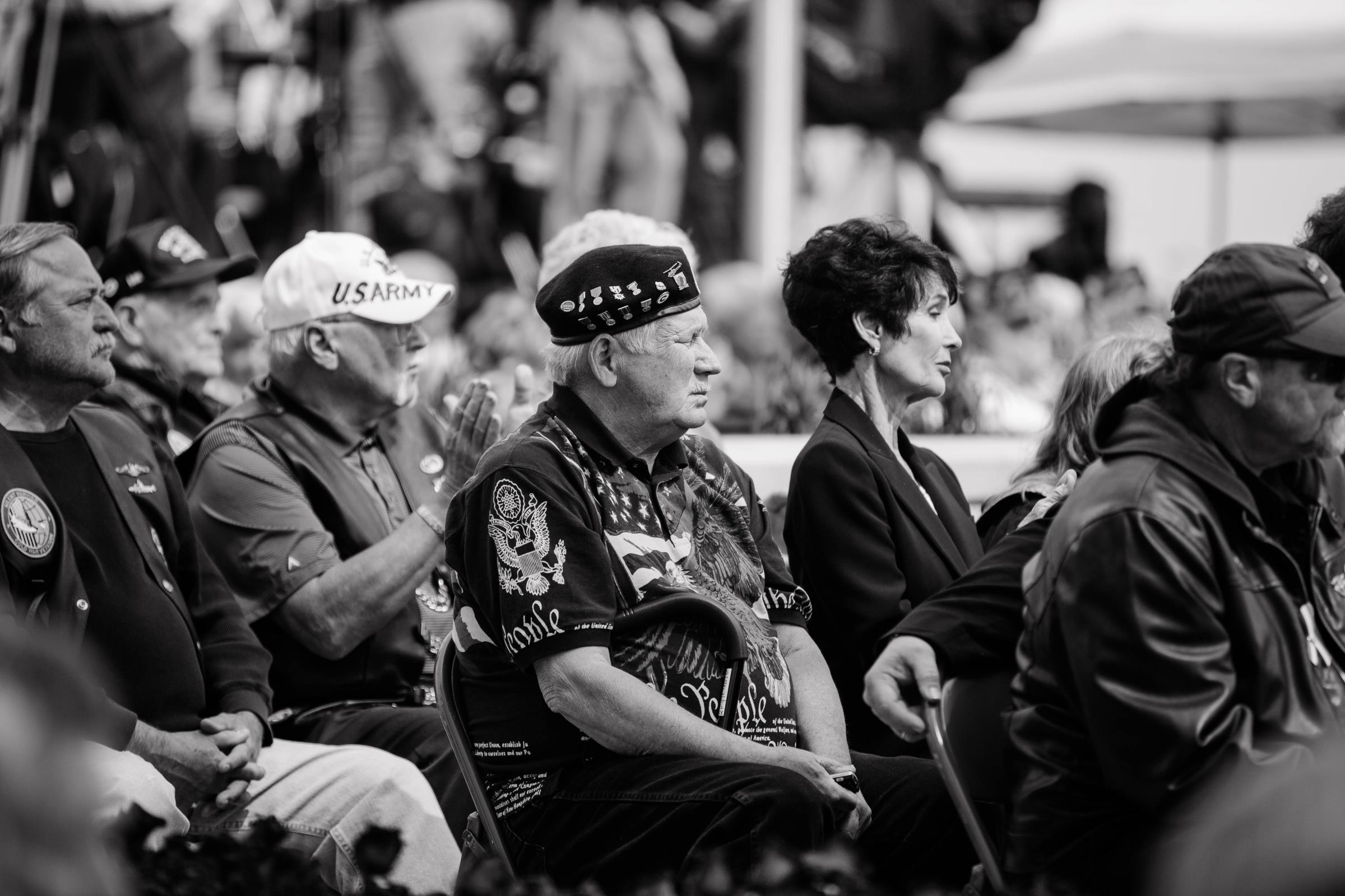 Veterans at the Vietnam Memorial dedication