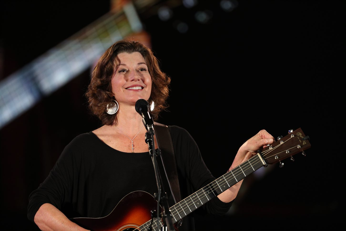Amy Grant performing during Cultural Convocation at College of the Ozarks