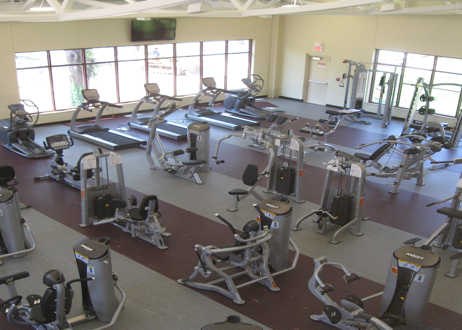 Fitness Center gym area at College of the Ozarks