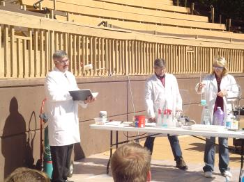 Chemistry students and professors participated in the Silver Dollar City annual Science Day.