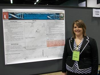 A Student presenting their undergraduate research at American Chemical Society regional and national meetings and the Missouri Academy of Science.