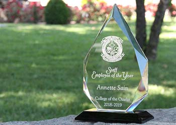 Staff member who is recognized by peers as an outstanding member of the institution, within the non-faculty staff at C of O.