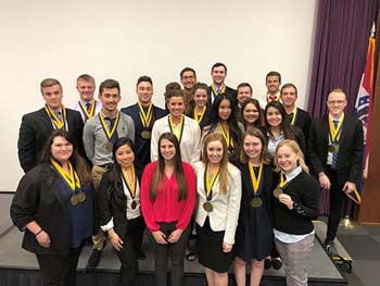 C of O Phi Beta Lambda students compete at state conference.