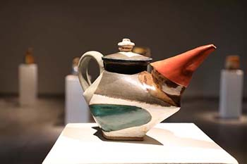 The cubist, ceramic vessels sculpted by John P. Gill