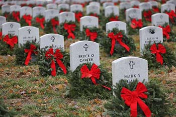 Missouri State Veterans Cemetery with Christmas wreaths