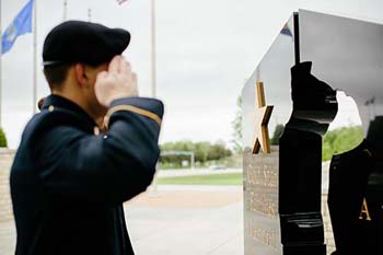 Cadet at Missouri Gold Star Families Memorial