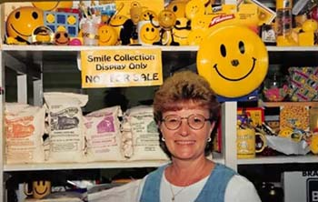 "Beloved C of O staff member Mynette Ulrich passed away March 15, 2020. She had served in the College's Fruitcake and Jelly Kitchen for 30 years. Her memory lives on through ""Mynette's Legacy Masks."""